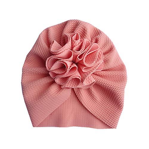 Geagodelia Turban Baby Mädchen Neugeboren Stirnband Haarband Knoten Mütze Sommer Stretch Schleife Headwear Kleinkind (Rosa Turban, OneSize)