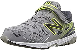 New Balance Boys' 680 V3 Running Shoe Grey/Hi-Lite 3 XW US Infant [並行輸入品]