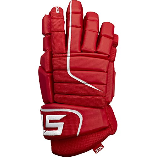 STX Ice Hockey Stallion HPR Senior Gloves, Red/White, 14
