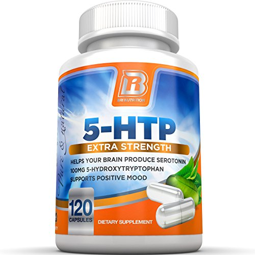 BRI Nutrition 5-HTP - 120 Count 100mg 5 HTP Veggie Capsules