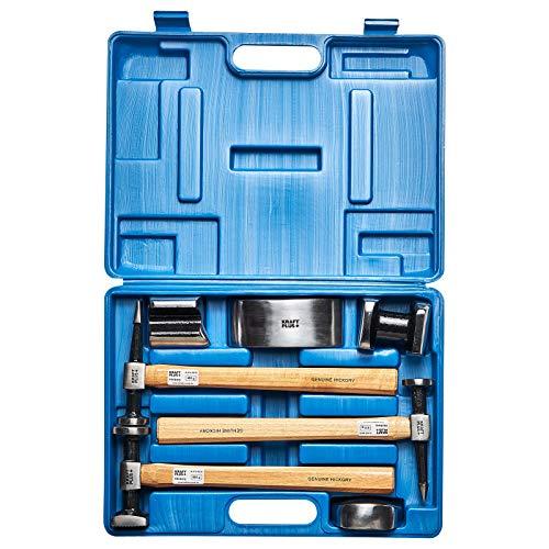 KRAFTPLUS K.872-4010 Juego de martillos desabollar para carrocerías - 7 piezas