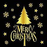Janly (D) - Adhesivo decorativo para pared, diseño con texto en inglés 'Merry Christmas'