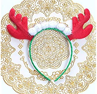 Pengcher Antler Christmas Hairband Headband Christmas Party Costume Accessory for Child(Multicolor)