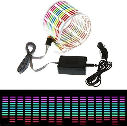 ESUPPORT 45 x 11cm Sound Music Activate Sensor Car Auto Sticker LED Light Equalizer Glow Blue