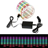 ESUPPORT 45 x 11cm Sound Music Activate Sensor Car Auto Sticker LED Light Equalizer Glow