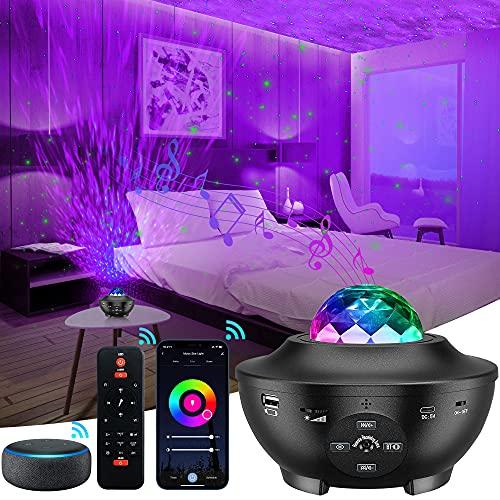 LED Sternenhimmel Projektor, Upgrade 2.0 Starry Projector Light, mit Fernbedienung / Bluetooth / WiFi App-Steuerung, Kompatibel Kompatibel mit Alexa & Google Assistant, für Kinder Erwachsene