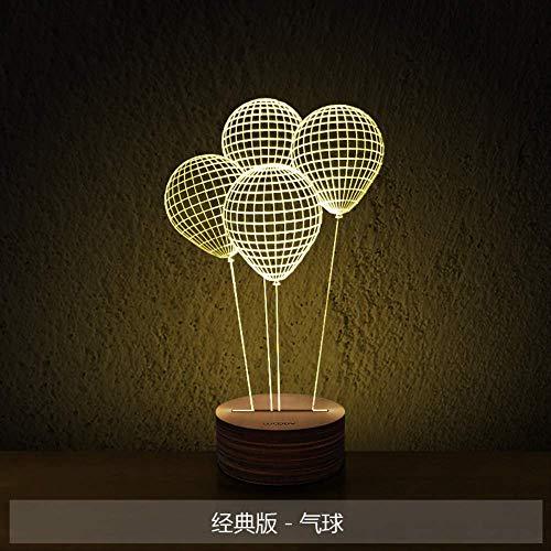 Driedimensionale oogbescherming Nachtlampje Led Slaapkamer Nachtkastje Lamp Sfeer Lamp Ballon