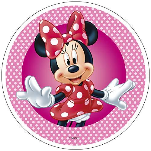 Decoración comestible para tarta de Minnie Mouse de 20 cm. Producto con licencia. Modecor.