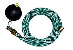 Saugschlauchgarnitur NW 25mm 1 Zoll Länge 1m-25m mit Rückschlagventil VA Saugkorb Vario Anschluss für Innen- und Aussengewinde, schwimmende Entnahme Edelstahlschlauchschellen 20-32mm Bandbreite 12mm W4 komplett Edelstahl Vakuum: 0,7 bar Längen 1m bis...