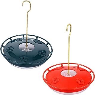 POPETPOP 2 Unids Comedero de Pájaros de Plástico Dispensador de Comida de Colibrí Al Aire Libre Contenedor de Alimentación...