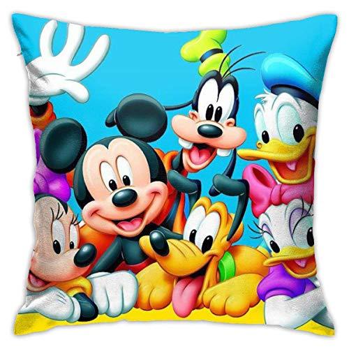 Funda de cojín, diseño de pato Donald y Goofy