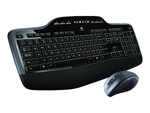 Logitech Wireless Desktop MK710 - Tastatur-und-Maus-Set - 2.4 GHz Tastatur und Maus Wireless Desktop MK710 / deutsch / USB-Mini-Empfänger / LX 7 kabellose Lasermaus / Unifying-Empfänger
