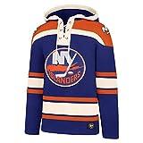 '47 Brand New York Islanders Lacer Jersey Hoodie NHL Sweatshirt -