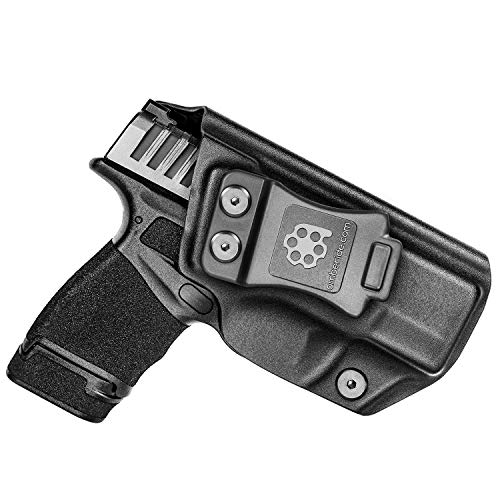 Amberide IWB KYDEX Holster Fit: Springfield Armory Hellcat | Inside Waistband | Adjustable Cant | US KYDEX Made (Black, Right Hand Draw (IWB))