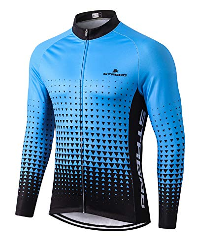 MR Strgao Men's Cycling Winter Thermal Jacket Windproof Long Sleeves Bike Jersey Bicycle Coat Size L