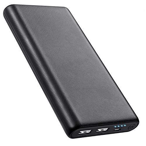 AOPAWA Batterie Externe 26800mAh Power Bank, [Nouvelle Version 2020 Antidérapante] Chargeur Portable Ultra Compact Charge Rapide 2 Ports USB avec Auto IC Batterie de Secours pour Smartphone, Tablette