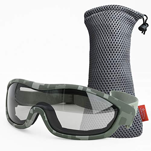Viriber Motorcycle Goggles Bike Goggles UV Protective Outdoor Glasses Dust-proof Protective Combat Goggles Military Sunglasses Outdoor Tactical Goggles (Camouflage glasses)