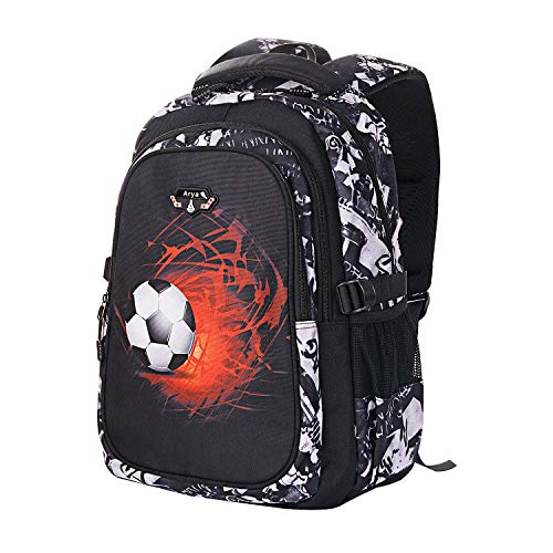 Arya Boys Backpack Kids Bookbag Teen School Bag for Elementary Kindergarten Middle Waterproof (grey) (Grey)