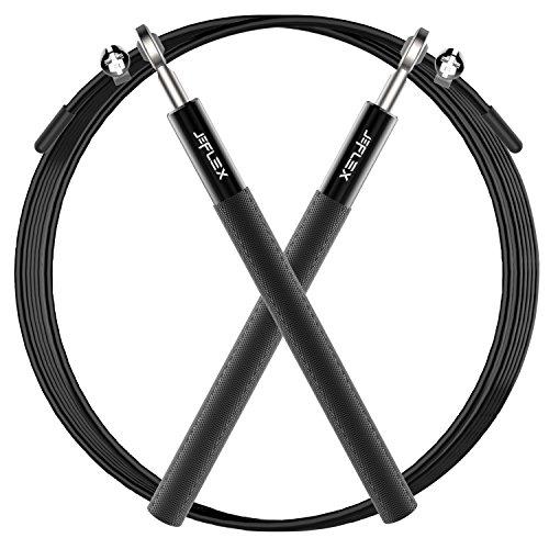 JEFlex Cuerda para Saltar de Calidad Premium, Longitud Ajustable y...