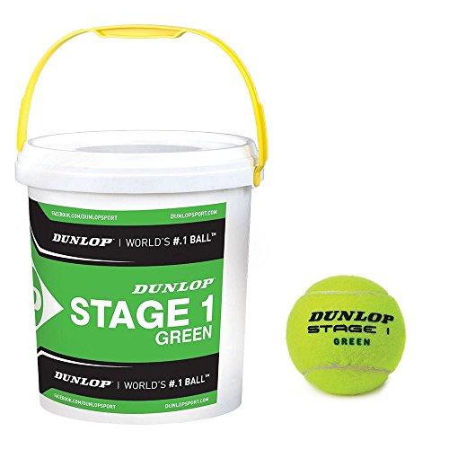 Dunlop Stage 1 Mini Tennis Ball Korb Übungsbälle 5 Dutzend Ball Eimer