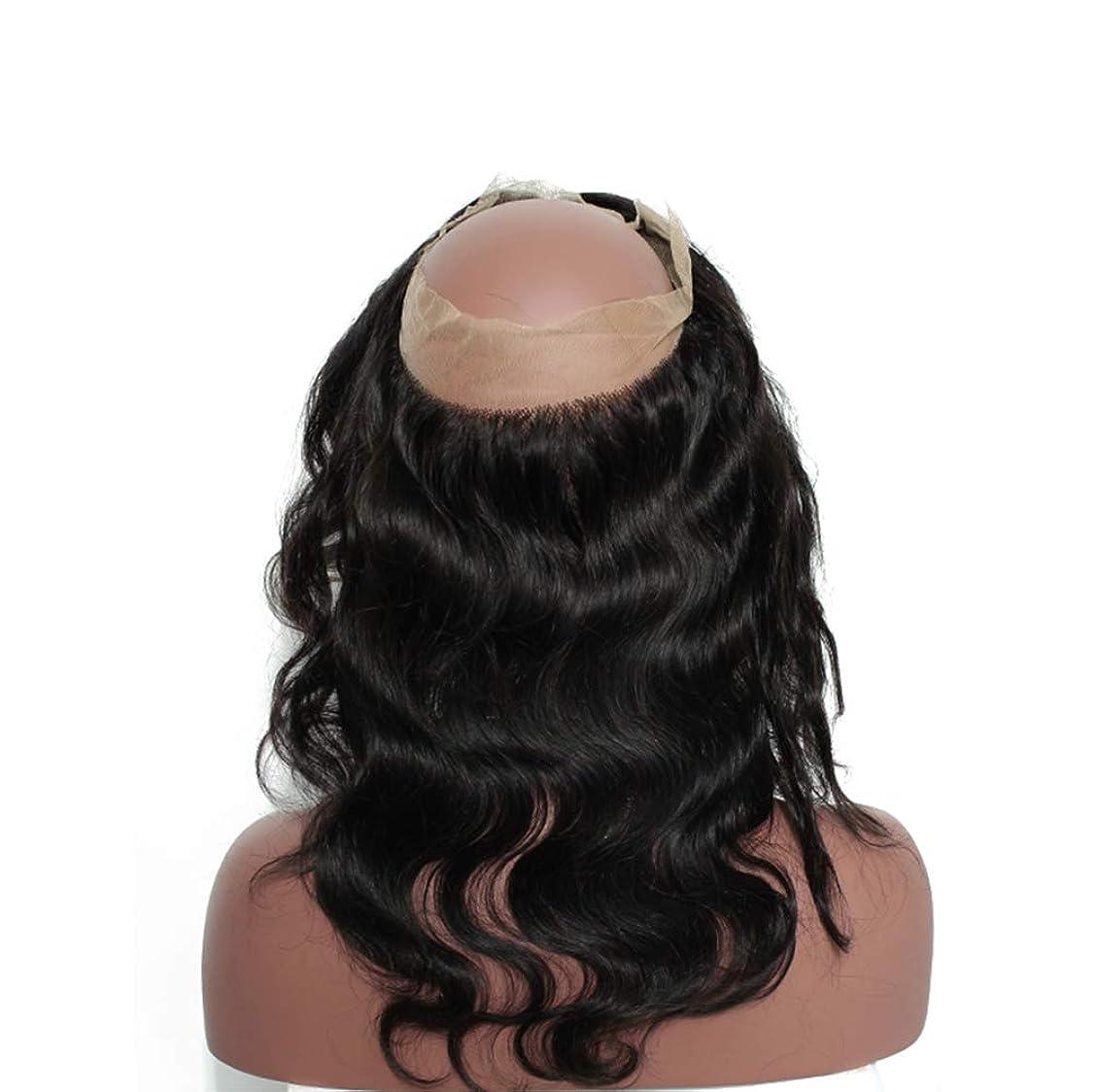 バターキャップ重荷女性360レースヘアブロック8aブラジル実体波閉鎖人間の髪未処理ブラジルバージンヘア実体波人間の髪