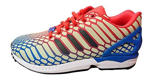 adidas Adidas Zx Flux, Herren Sneaker weiß green white gold BB5477 36.5 EU, Red/Black/White, 40