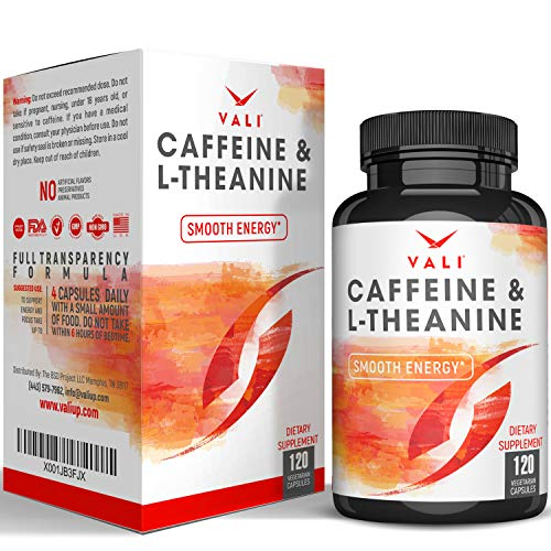Caffeine 50mg with L-Theanine 100mg Pills by Vali review