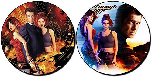 MasTazas James Bond 007 El Mundo Nunca Es Suficiente The World Is Not Enough Pierce Brosnan Posavasos x4 Coasters