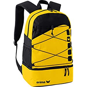 Erima 723343, Backpack Unisex Adulto, Giallo/Nero, 1
