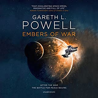 Embers of War                   Auteur(s):                                                                                                                                 Gareth L. Powell                               Narrateur(s):                                                                                                                                 Nicol Zanzarella,                                                                                        Amy Landon,                                                                                        Greg Tremblay,                   Autres                 Durée: 10 h et 38 min     1 évaluation     Au global 1,0