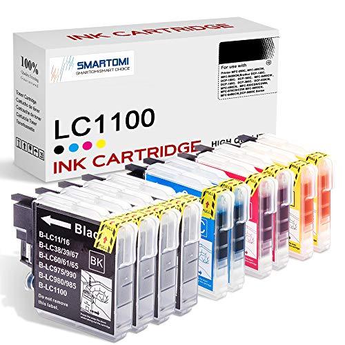 SMARTOMI LC1100 LC 1100 Compatibili con Brother LC-1100 Cartucce d'inchiostro, per Stampanti Brother Printer MFC-290C 490CW 5490CN 6490CW 490CN 930CDN 670CD 5890CN DCP-145C 165C 185C 165C 385C 535CN