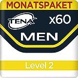 Tena Men Level 2, Monats-Paket  mit 60 Einlagen (6 Packungen je 10 Einlagen)