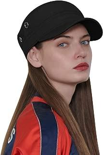 CACUSS Men's Caps Army Hat Cotton Classic Military Hats Adjustable Comfy Cadet Hat Vintage Flat Top Cap Baseball Cap