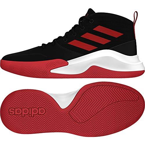 adidas OWNTHEGAME K Wide Zapatillas Basket, Niños, Noir Rouge Blanc, 37 1/3 EU