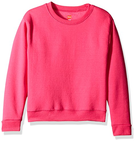 Hanes Big Girls' Comfortsoft Ecosmart Fleece Sweatshirt, Amaranth, L