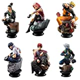 EASTVAPS 6 unids Naruto Gaara Shippuden Sasuke ajedrez Figura de Juguete