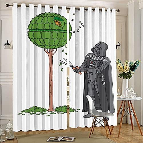 Living Room Curtains All Season Insulation Star Wars Humor Tree Home Decor Window Drape 75cmx166cm x 2 pcs