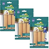 Himalayan Dog Chew YUM Himalayan Cheese Treats | Lactose Free - Gluten Free - Wheat Free -Soy Free| Made in USA | for All Breeds | Cheese Flavor | 3 Resealable Pouches