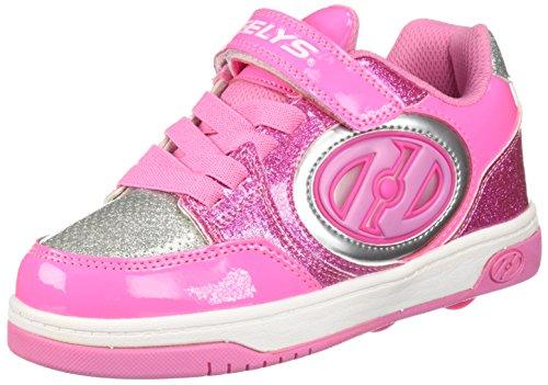 Heelys Unisex-Kinder X2 Fitnessschuhe, Mehrfarbig (Neon Light Pink/Silver 000), 34 EU