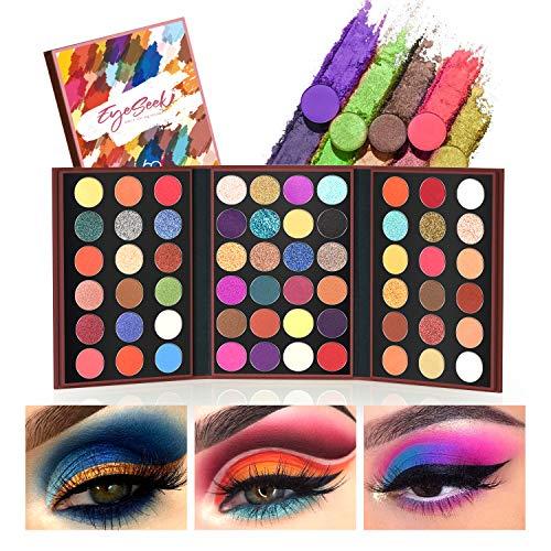 EYESEEK Eyeshadow Palette Glitter Pro 60 Colors Colorful Eye Shadow Makeup Palette High Pigmented Matte And Sparke Glitter Eyeshadow Pallet Easy To Blend Shimmer Eyeshadow Powder #Neon