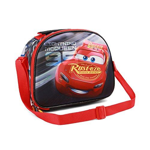 Karactermania Cars 3 Lightning-3D Lunch Bag Schulranzen, 26 cm, Schwarz (Black)