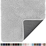 Gorilla Grip Original Indoor Durable Chenille Doormat, 36x24, Absorbent Washable Inside Mats, Low-Profile Rug Doormats for Entry, Mud Room Mat, Back Door, High Traffic Areas, Light Gray