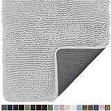 Gorilla Grip Original Indoor Durable Chenille Doormat, 48x30, Absorbent Washable Inside Mats, Low-Profile Rug Doormats for Entry, Mud Room Mat, Back Door, High Traffic Areas, Light Gray