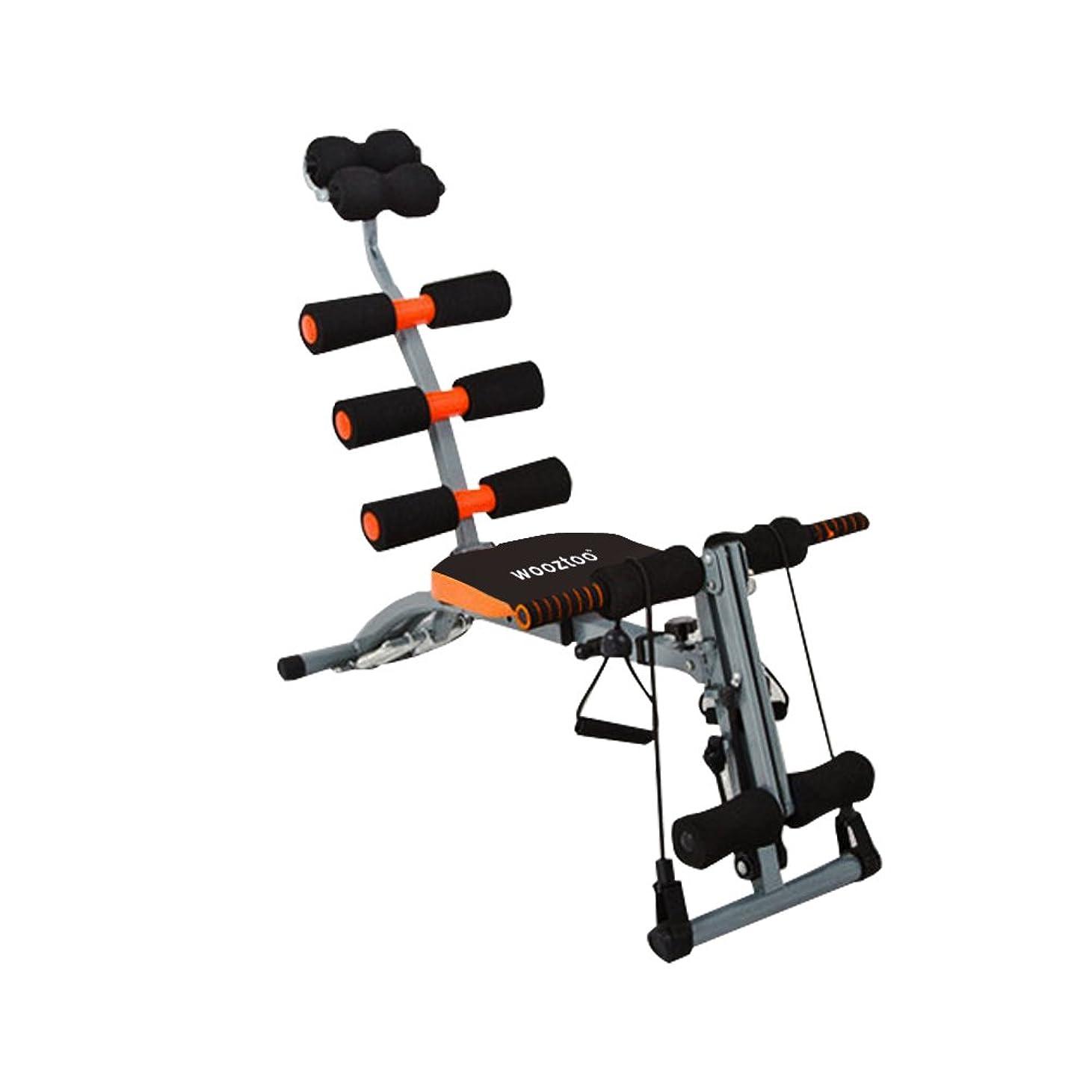 支出アサート情熱wooztoo 腹筋マシン フィットネス 筋トレ 腹筋 ローラー エクササイズ トレーニング ダイエット 六種類の運動をこの一台に! 室内用