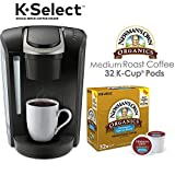 Keurig K-Select Coffee Maker, Single Serve K-Cup Pod Coffee Brewer, Black and Newman's Own Special Blend K-Cup Pods, 32 Count