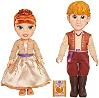 Disney Frozen 2 Anna & Kristoff Dolls Proposal Gift Set, Comes with Ring & Ring Box! Features Authentic Film Details &...