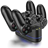 ICESPRING Playstation 4 Charger Kit, PS4 Dual USB Charging Charger Dock Station Stand for PS4 Controller