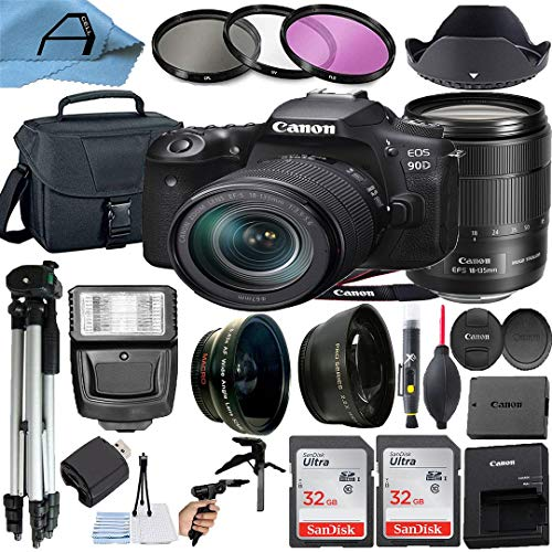Canon EOS 90D 32.5MP DSLR Camera with EF-S 18-135mm Zoom Lens, 2...