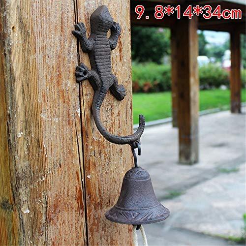 Chyuanhua antieke deurbel gietijzeren deurbel dier smeedijzeren muur opknoping deur telefoon bel met haak slingeren ontwerp huis voorzijde veranda tuin binnenplaats gietijzer decoratieve deurbel