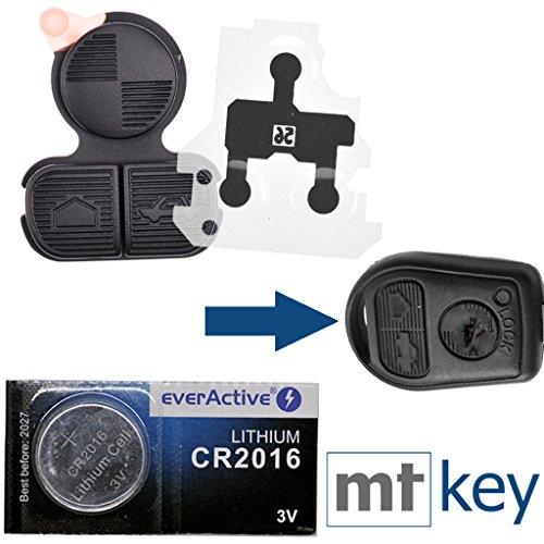Repair Reparatur Set Auto Schlüssel Tastenfeld 1x Tastenfeld 1x Kontaktfeld 1x CR2016 Batterie für BMW